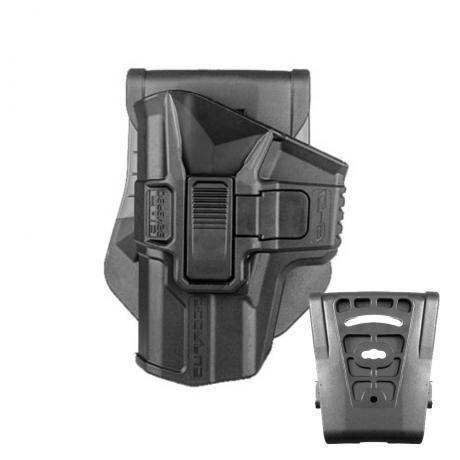 SC-G9 R LH - Polymerové pouzdro Scorpus pro Glock 17,19 s pojistkou (pádlo i opasková redukce) pro leváka (PB35) černé