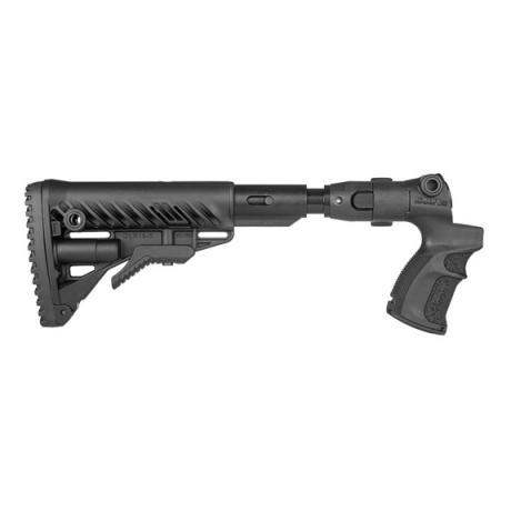 AGM-F500 FK SB - Teleskopická sklopná pažba s absorberem a pistolovou rukojetí pro Mossberg 500 černá