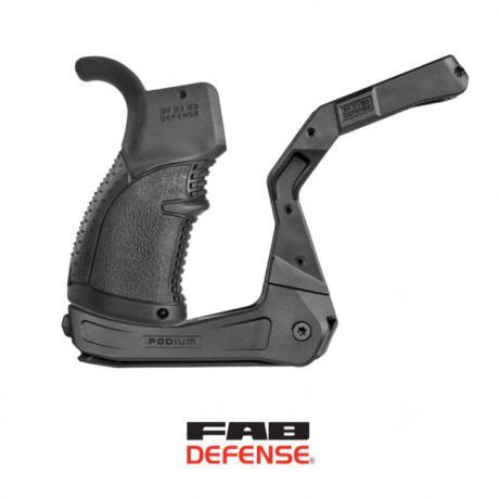 AR-PODIUM - Platforma s dvojnožkou pro zbraně typu AR-15 (včetně pistolové rukojeti) černá
