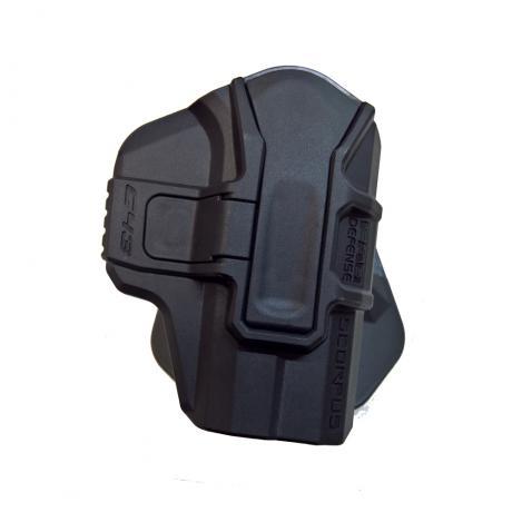 SC-M1 G43 S RH - Scorpus pouzdro pro Glock 43 bez pojistky pro praváka (PB35) černé