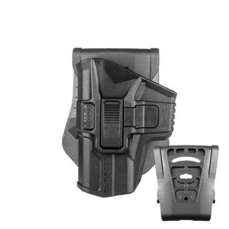 SC-G43 R LH - Scorpus pouzdro pro Glock 43 s pojistkou pro leváka (PB35) černé