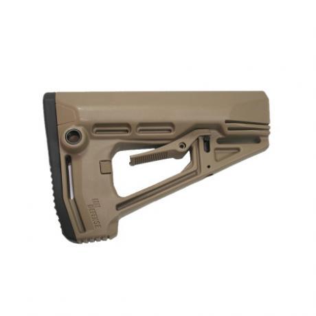 IMI-ZS102 - Taktická pažba pro M16/AR15/M4 s gumovou botkou písková