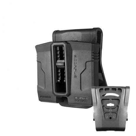 SC-PS9 - Polymerové pouzdro Scorpus PS-9S na 2 zásobníky (Steel 9mm) (pádlo i opasková redukce) (PB35) černé