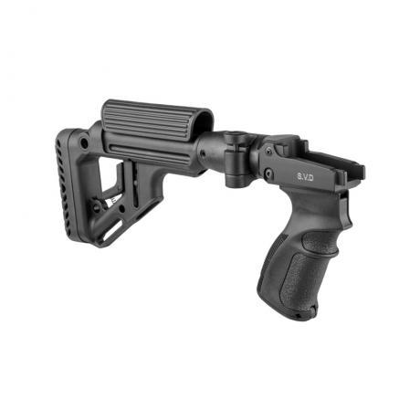 UAS-SVD - Sklopná neteleskopická pažba s rukojetí pro SVD