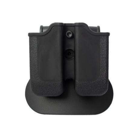 IMI-Z2000 - MP00  - polymerové pouzdro IMI Defense na 2 zásobníky s pádlem (Glock 17, 19atp), Beretta PX4 Storm, H&K P30, VP9 - černé