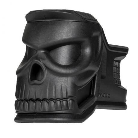 MOJO-H - Držák zásobníku kolem zásobníkové šachty AR-15 navíc s emblémem Havoc černá