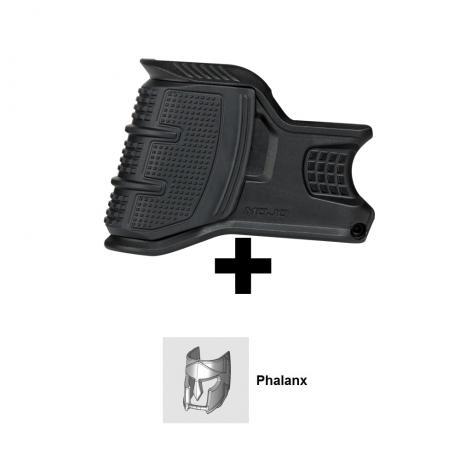MOJO-P - Držák zásobníku kolem zásobníkové šachty AR-15 navíc s emblémem Phalanx černá