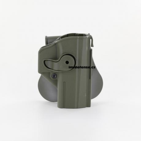 IMI-Z1460 - IMI Defense pouzdro s pojistkou pro CZ P-07 zelené