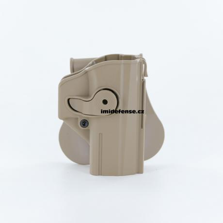 IMI-Z1460 - IMI Defense pouzdro s pojistkou pro CZ P-07 pískové