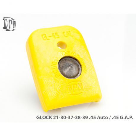 MFPY-GL/2 - Polymerová patka na zásobník s rozbíječem oken pro Glock 21, 30, 37, 38, 39 (45Auto / .45 GAP) žlutá