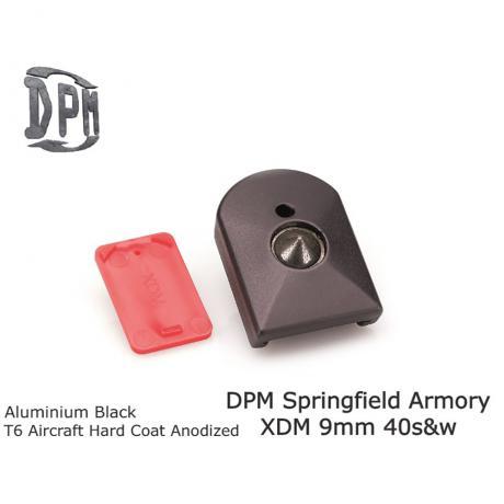 MFA-XDM/1 - Polymerová patka na zásobník pro XDM 9mm/40s&w ALUMINUM BLACK T6 Aircraft Hard Coad Anodized
