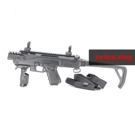 KPOS Scout Advanced - Konverze (batoh+mířidla) pro pistole Glock 17, 19 (Gen 3, 4, 5), 19X, 45 - černá