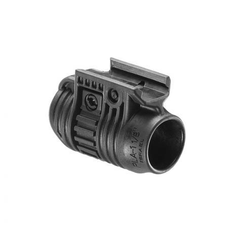 PLA 1 1/8 - Držák na svítilnu 1 1/8 palce černý