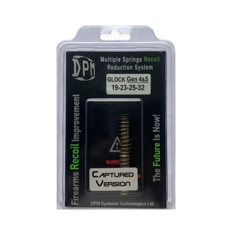 MS-GLG4/2 CAPTURED - Vratná pružina s redukcí zpětného rázu DPM GLOCK 19, 23, 25, 32 GEN 4-5 CAPTURED Black