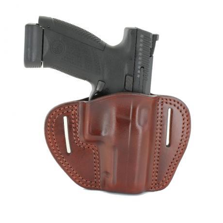 LB-P10C-BR-OUT - Vnější kožené opaskové pouzdro pro CZ P-10 hnědé