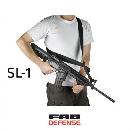 SL-1 - 2/1 bodový taktický nosný popruh s karabinou - černý