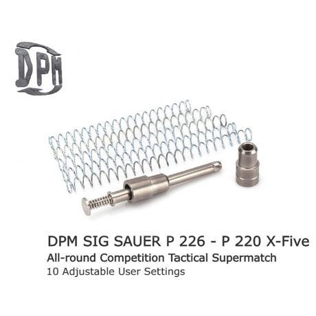 MS-SI/7 - Vratná pružina s redukcí zpětného rázu DPM pro Sig Sauer P226/P220 X-FIVE & X-SIX Competition Tactical All Around (9mm - 40s&w - 45ACP)
