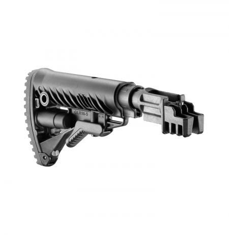 SBT-K47FK - Pevná pažba pro AK-47 typ M16 s absorberem polymerová černá