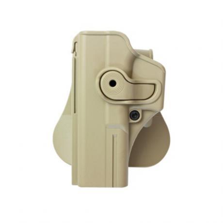 IMI-Z1010LH - Polymerové pouzdro IMI Defense pro Glock 17/22/31 pro leváka s pádlem - pískové