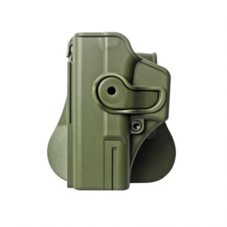 IMI-Z1020LH - Polymerové pouzdro IMI Defense pro Glock 19/23/32 pro leváka s pádlem - zelené