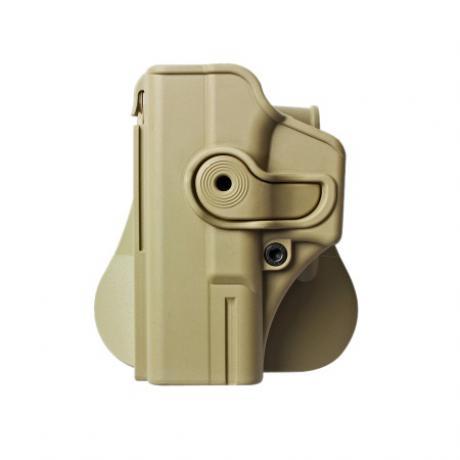 IMI-Z1020LH - Polymerové pouzdro IMI Defense pro Glock 19/23/32 pro leváka s pádlem - pískové