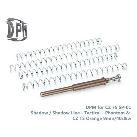 MS-CZ/4 - Vratná pružina s redukcí zpětného rázu DPM pro CZ 75 SP01 Phantom, Shadow, Tactical, TS Orange