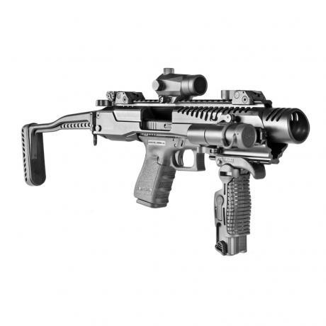 KPOS G2 GLOCK 17/19 - Karabinová konverze KPOS G2 pro Glock (17, 18, 19, 19X, 22, 23, 34, 35, 45) standardní pažba