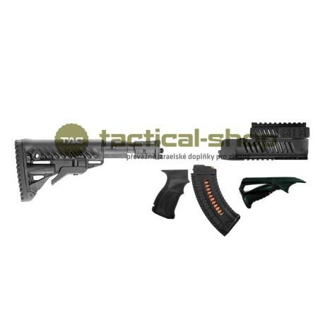 set58pevny - FAB Defense set pro SA-58 s pevnou pažbou černý